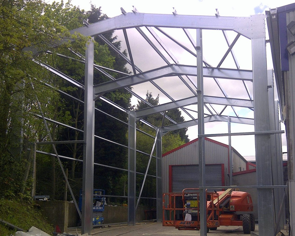 Stroage Warehouse Extension supplied and installed by Springfield Steel Buildings