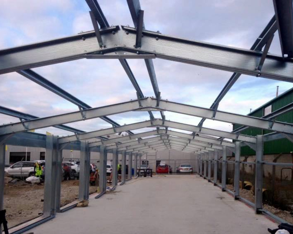 Valet Building in Scotland Steel work